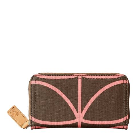 Orla Kiely Nutmeg Giant Liner Stem Purse