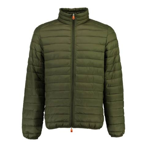 Geographical Norway Men's Olive Duo Basic Collar Parka