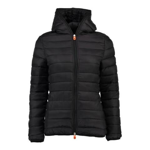 Geographical Norway Women's Black Daynight Hood Jacket