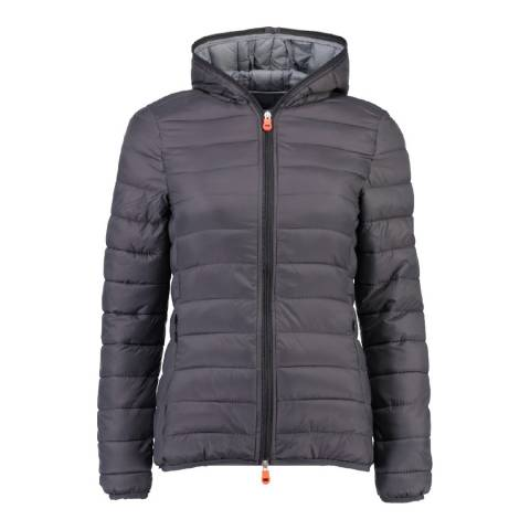 Geographical Norway Women's Dark Grey Daynight Hood Jacket