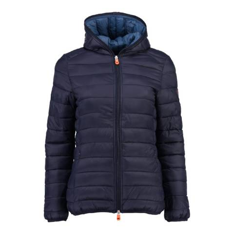 Geographical Norway Women's Navy Daynight Hood Jacket