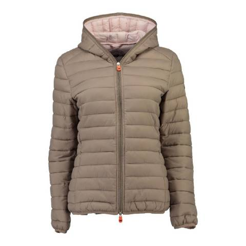 Geographical Norway Women's Taupe Daynight Hood Jacket