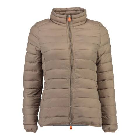 Geographical Norway Women's Taupe Daynight Basic Collar Jacket