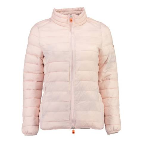 Geographical Norway Women's Pink Daynight Basic Collar Jacket