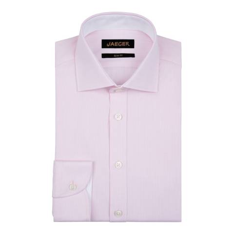Jaeger Pink Fine Stripe Slim Shirt