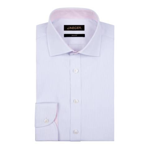 Jaeger Blue Fine Stripe Slim Shirt