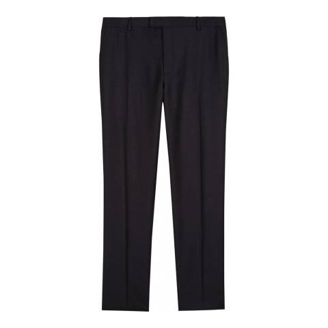 Jaeger Charcoal Slim Plain Twill Trousers