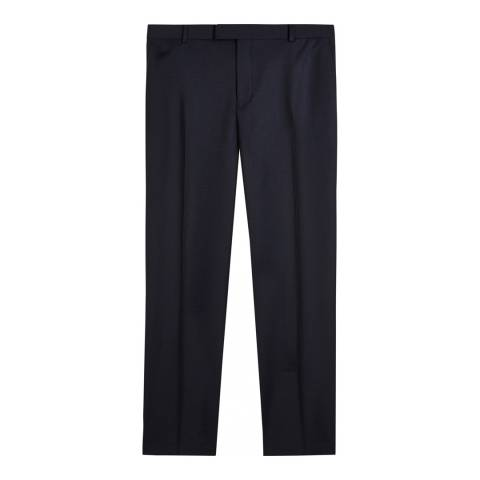 Jaeger Navy Regular Chalk Pinstripe Trousers