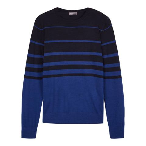 Jaeger Navy Gradient Striped Crew