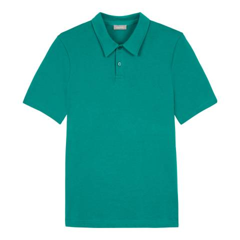 Jaeger Green Cotton Plain Polo