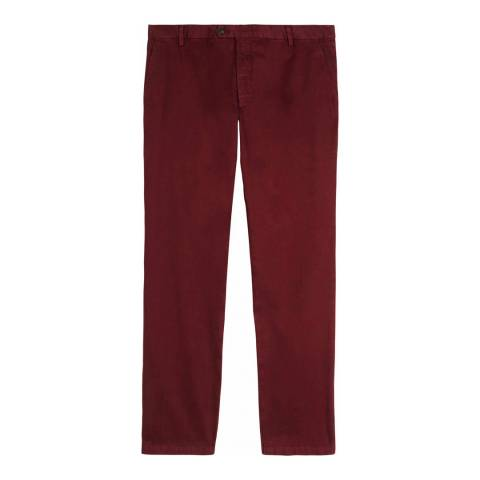 Jaeger Red Regular Garment Dye Chino