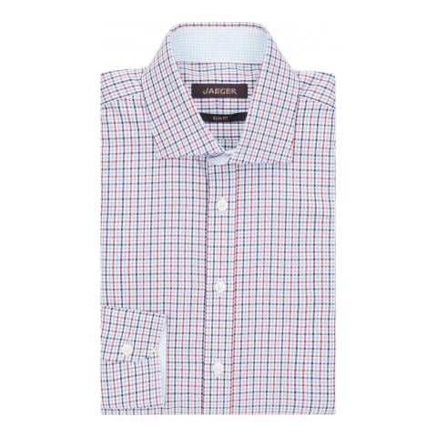 Jaeger Red/Blue Slim Mini Check Shirt
