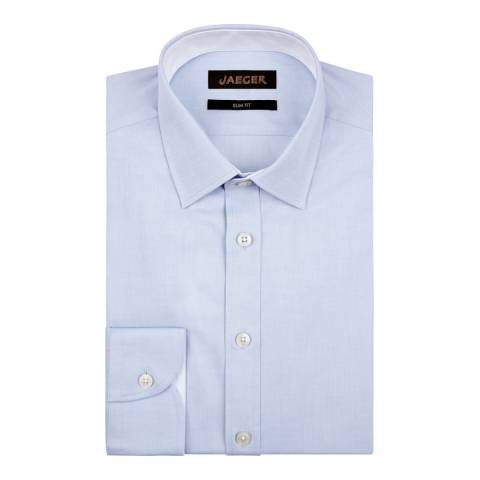 Jaeger Blue Plain Twill Slim Shirt
