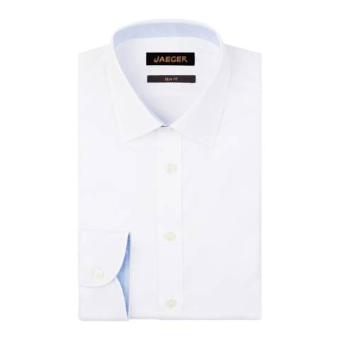 Jaeger White Plain Twill Slim Shirt