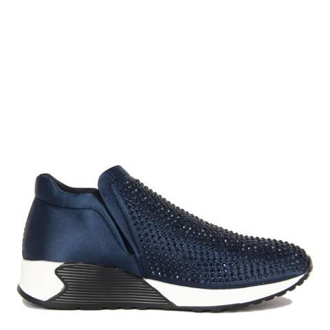 Onako Blue Satin Bejeweled Kerry Sneaker