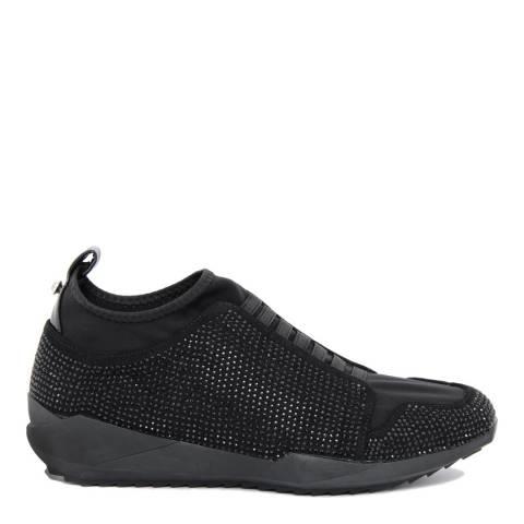 Onako Black Velvet Bejeweled Kimba 2 Slip On Sneaker