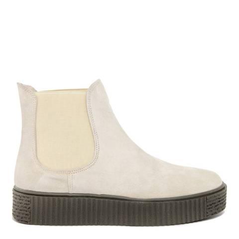 Onako Cream Suede Flatform Ankle Boot