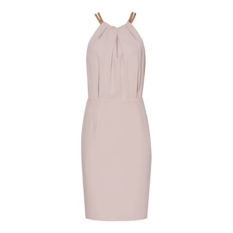 Reiss Pale Rose Odessa Chain Neck Dress