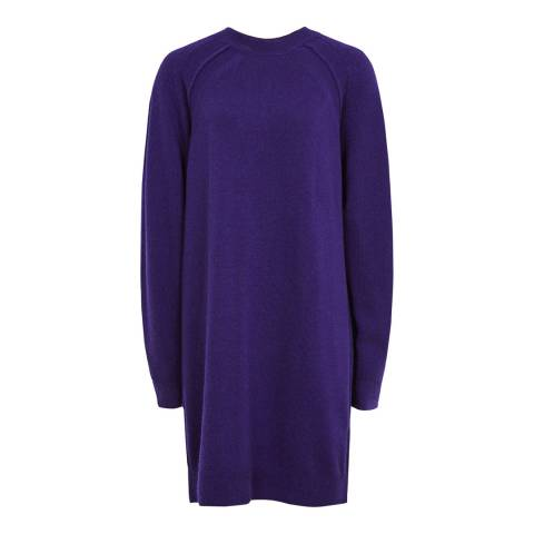 Reiss Cobalt Blanca Oversized Knit Wool Blend Dress