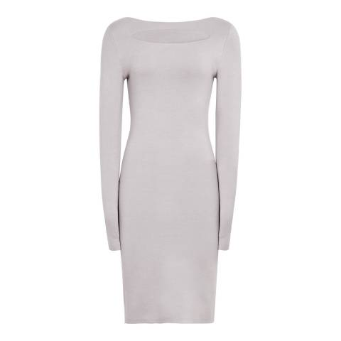 Reiss Grey Audrey Key Hole Dress