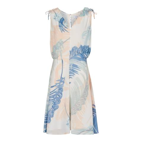 Reiss Multi Sirus Printed Midi Dress