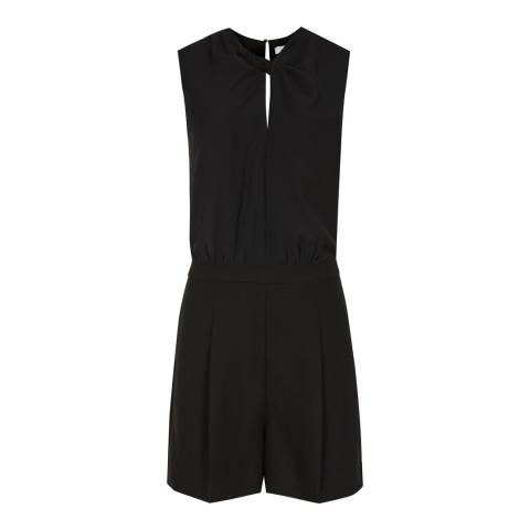 Reiss Black Viola Knit Twist Playsuit