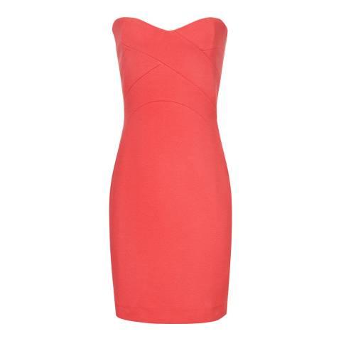 Reiss Red Miranda Jersey Strapless Dress