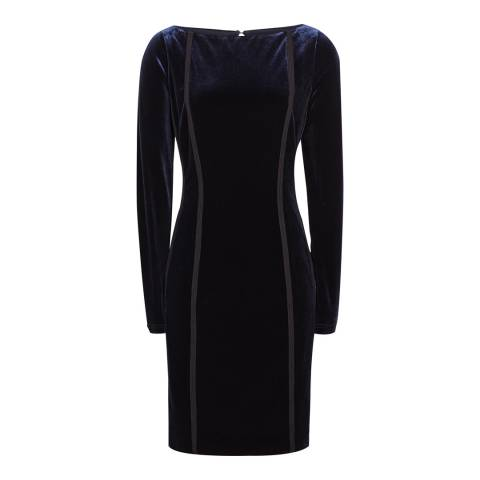 Reiss Midnight Xina Open Back Velvet Dress