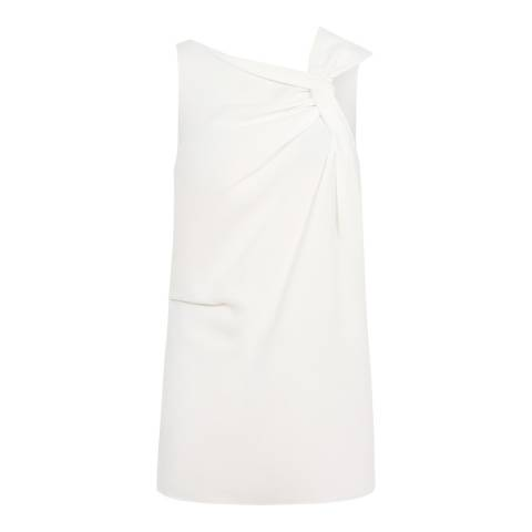 Reiss Off White Olga Twist Detail Top
