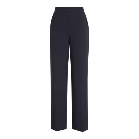 Reiss Night Navy Asta Wide Leg Tailored Trousers