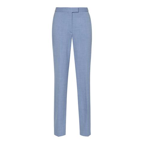 Reiss Light Blue Miller Slim Leg Wool Blend Trousers