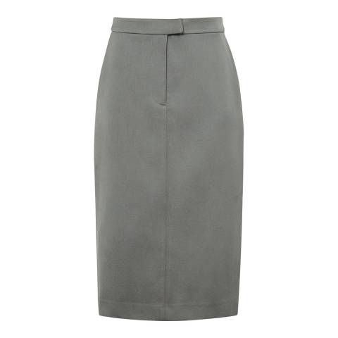 Reiss Grey Era Satin Pencil Skirt
