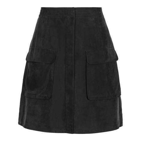Reiss Smoke Ciara Pocket Front Skirt