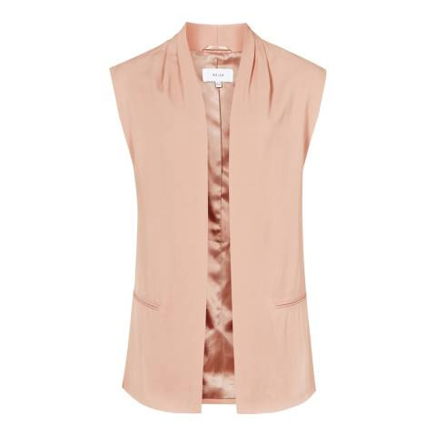 Reiss Salmon Gita Fluid Gilet