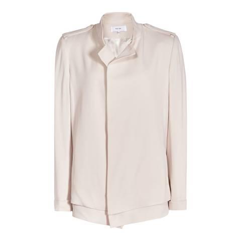 Reiss Dusty Pink Magenta Fluid Cotton Blend Jacket