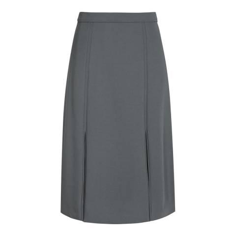 Reiss Grey Ennis Split Front Fluid Skirt