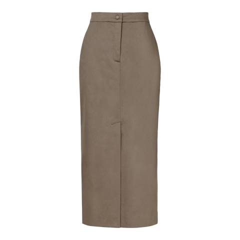 Reiss Khaki Fresia Maxi Pencil Skirt