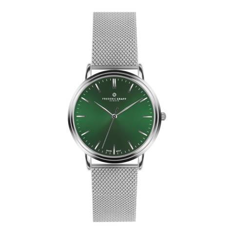 Frederic Graff Unisex Silver Grunhorn Silver Mesh Watch 40mm