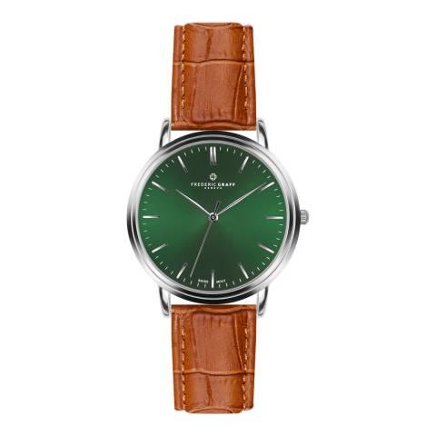 Frederic Graff Men's Silver/Brown Grunhorn Croco Leather Watch 40mm