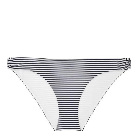 Reiss Off White/Navy Bermuda Stripe Bikini Bottoms