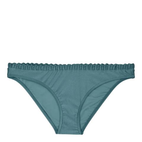 Reiss Sea Blue Skye Woven Edge Bikini Bottoms