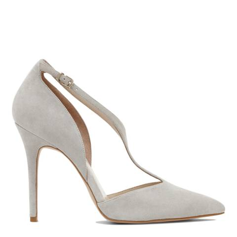 Reiss Grey Kate Goat Suede Heels