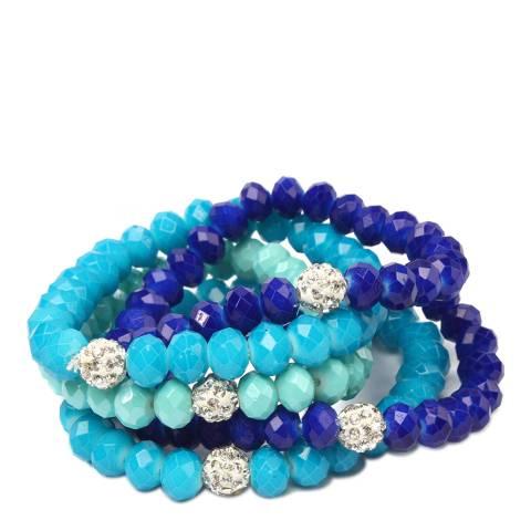 Amrita Singh Turquoise/Lapis Crosby Street Bracelet Set