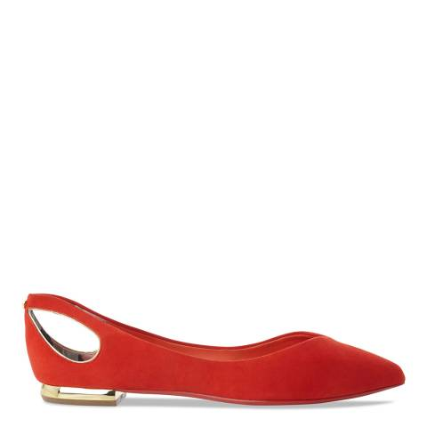 Ted Baker Orange Suede Cut Out Dabih Flats