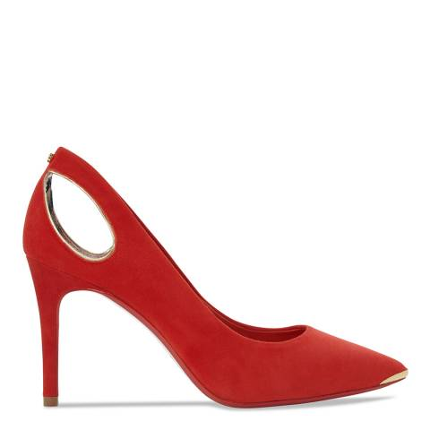 Ted Baker Orange Suede Jesamin Cut Out Stiletto Courts