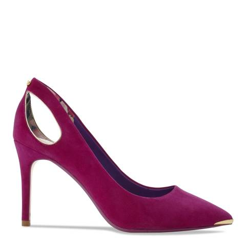 Ted Baker Pink Suede Jesamin Cut Out Stiletto Courts
