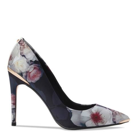 Ted Baker Black Floral Print Kawaap Stiletto Courts