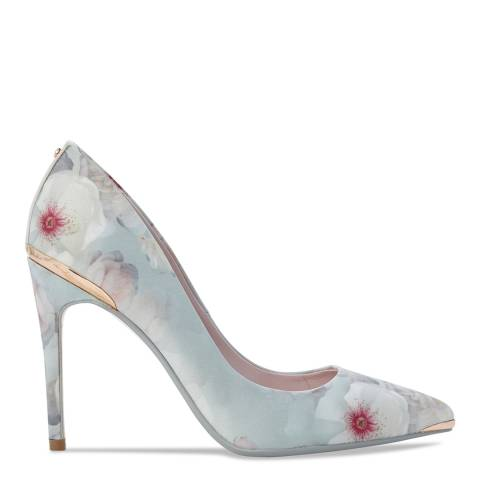 Ted Baker Grey Floral Print Kawaap Stiletto Courts