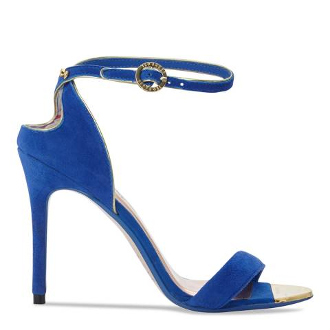 Ted Baker Blue Suede Mirobell Cut Out Stiletto Sandals