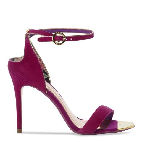 Ted Baker Pink Suede Mirobell Cut Out Stiletto Sandals